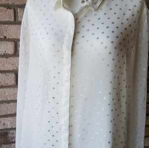 Chicos longsleeved sheer blouse XL